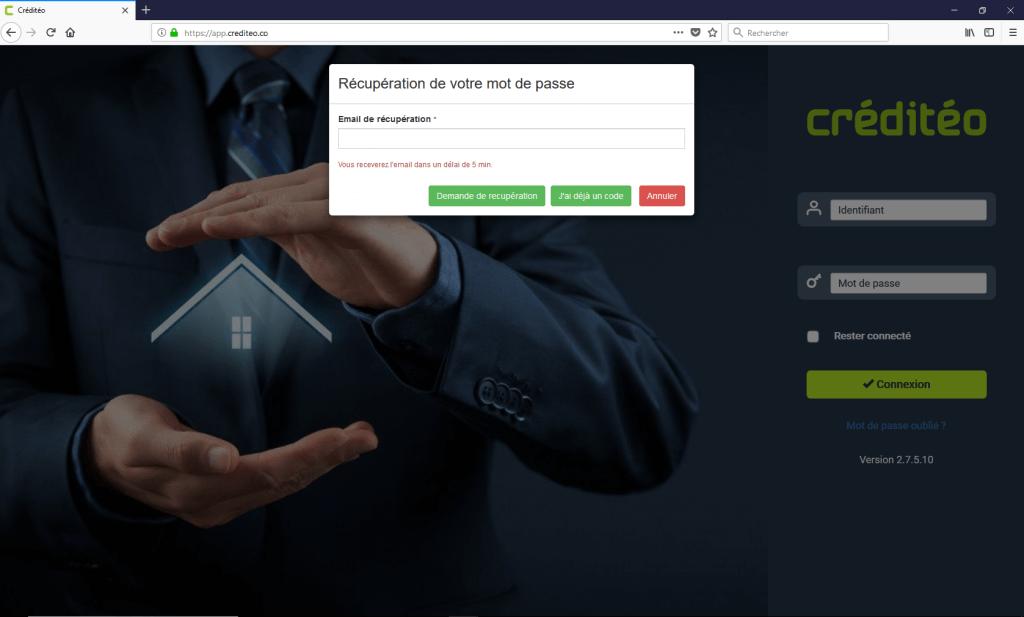 Mot de passe logiciel crédit immobilier